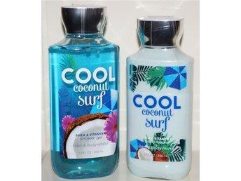 Bath & Body Works COOL COCONUT SURF Body Lotion 236ml & Shower Gel 295ml doft - Torsås - Bath & Body Works COOL COCONUT SURF Body Lotion 236ml & Shower Gel 295ml doft - Torsås