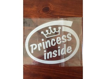 English Letters Car Stickers: Princess Inside - Holmsveden - English Letters Car Stickers: Princess Inside - Holmsveden
