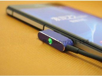 Javascript är inaktiverat. - Bagarmossen - Helt ny snabb magnetisk laddning kabel med led lampa. Smidig laddningskabel till Sony Xperia Z1, Z1 Compact, Z Ultra, Z2, Z2 surfplatta, Z3 samt Z3 compact Kabeln fästes enkelt via telefonens/surfplattans magnetiska laddningsport. Inga luck - Bagarmossen