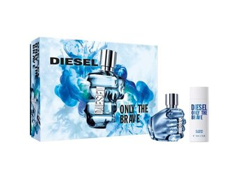 DIESEL ONLY THE BRAVE PARFYMSET SET EAU DE TOILETTE 35ML + SHOWER GEL 50ML NYTT