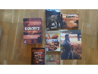 Farcry 2 Limited collectors edition trälåda med t shirt o massa annat xbox 360