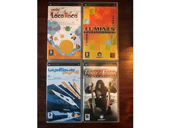 Prince of persia Revelations Lumines Wipeout pure Loco Roco Games