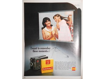KODAK SUPER 8 COLOR MOVIE FILM  TIDNINGSANNONS Retro 1968