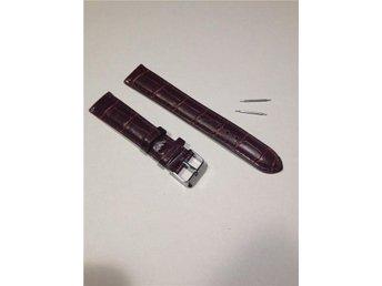 18 mm Klockarmband i mörkbrunt konstläder. - Frövi - 18 mm Klockarmband i mörkbrunt konstläder. - Frövi