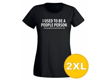 T-shirt Used To Be A People Person Svart Dam tshirt XXL