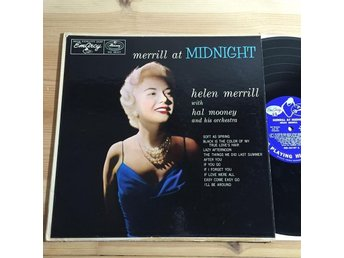 Helen Merrill - Merrill at Midnight Rare Original LP Emarcy Deep Groove 1957