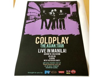 COLDPLAY LIVE IN MANILA 2006 POSTER