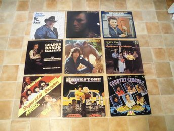 9 st Lp's. Div Country. Country Circus, Rhinstone mfl.