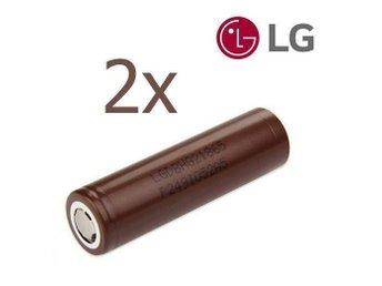 2-pack ORIGINAL LG HG2 Li-Ion batterier 3000 mAh 20A INR18650 18650 e-cigg - Kalmar - 2-pack ORIGINAL LG HG2 Li-Ion batterier 3000 mAh 20A INR18650 18650 e-cigg - Kalmar