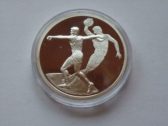 "GREECE / 2003 10 Silver € 2004 Athens Olympic Games ""Discus"" Proof.h"