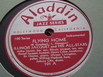 Aladdin 101 Illinois Jacquet and His All-Stars