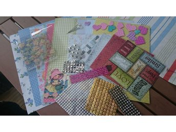 Papper,Bling, clearstamp
