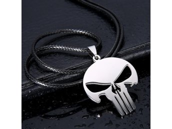 Halsband The Punisher stål med rem