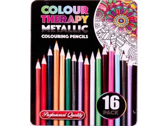Colour Therapy 16-Pack Metallic Pennor, Måla, Rita, Relax