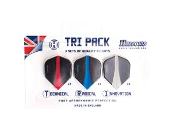 Harrows Retina Flights Tri Pack, dartvingar 9-pack