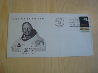 Neil Armstrong First Man on the Moon 1969 USA kuvert
