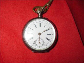 ur klocka silver Remontoir 10 rubis galonne fungerar 1878 - Uppsala - ur klocka silver Remontoir 10 rubis galonne fungerar 1878 - Uppsala