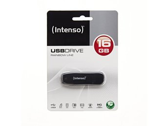 (INTENSO) USB-MINNE RAINBOW LINE 16GB