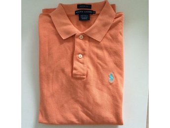 Ralph Lauren, orange piké i storlek M