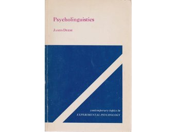 James Deese: Psycholinguistics