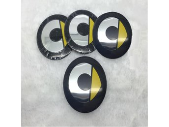 4PCS 56.5mm Car Styling Aluminum Car Wheel Center Hub Cap Stickers For Smart