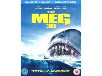 The Meg 2018 3D 113 Min Svensk Text  Ny UK Import (Ej släppt i Sverige)