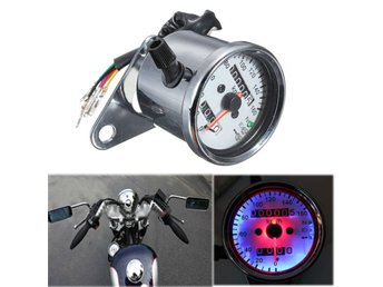 Motorcycle Dual Odometer Speedometer Gauge LED Backlight ...