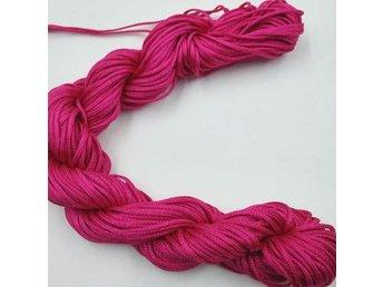 26 m Nylontråd 1 mm - Rose Red - För Makrame Armband Halsband mm - DIY / Pyssel - Nasugbu - 26 m Nylontråd 1 mm - Rose Red - För Makrame Armband Halsband mm - DIY / Pyssel - Nasugbu