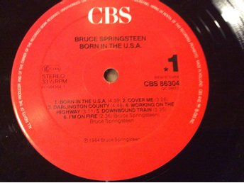 "LP Bruce Springsteen "" BORN IN THE U.S.A. made in Holland 1984"