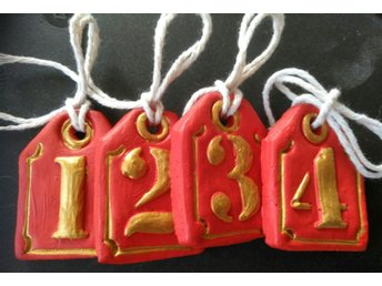 Handgjorda advent tags 4,5x3cm