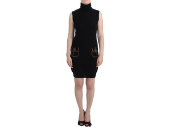 Galliano - Black knitted wool dress