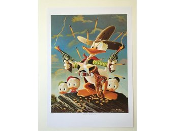 Carl Barks - Sheriff of Bullet Valley - tryck (ej litografi) - Höllviken - Carl Barks - Sheriff of Bullet Valley - tryck (ej litografi) - Höllviken