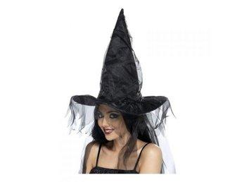 Häxhatt Svart - Maskerad - Halloween - Hatt - häxa 773cdc0209bda