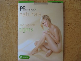 FYND 1 par Pretty Polly NaturalsTights Färg Begie, non slip sole, 8 denier Slk M
