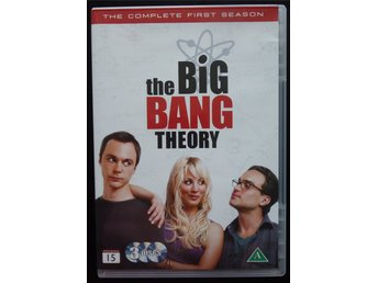 DVD – Box The Big Bang Theory, The Complete First Season. Svensk text. 5 tim 40