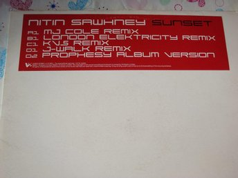 "NITIN SAWHNEY - SUNSET 2x12"" ELECTRONIC DANCE CLUB PROMO"