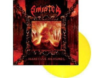 Sinister -Aggressive Measures LP Yellow vinyl Death metal