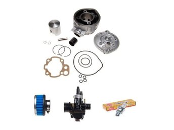 Cylinder 90 cc + kolv kit + forgasare 21mm + BR9ES  + filter 35 APRILIA RS 50