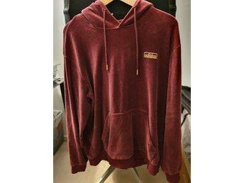 lägsta rabatt senast köpa billigt Vinröd adidas hoodie i sammetstyg, storlek M (369806680) ᐈ Köp på ...