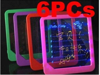 6Pcs!NY!Led Illuminate message board Writing Sign Display