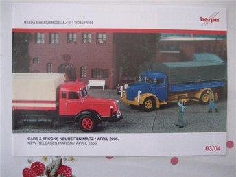 Herpa-Minyatyrmodeller Mars/April 2005 (Tysk-Engelsk) - Urshult - Herpa-Minyatyrmodeller Mars/April 2005 (Tysk-Engelsk) - Urshult