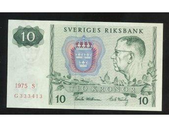 1975 S 10 kronor Sedel 1 st se bild - Västra Frölunda - 1975 S 10 kronor Sedel 1 st se bild - Västra Frölunda