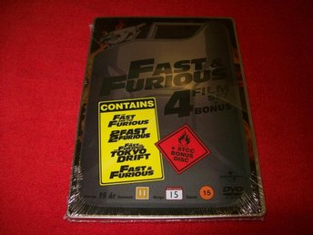 FAST & FURIOUS 4 FILM SET + BONUS I METAL BOX NY INPLASTADE
