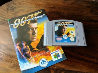 James Bond- The World Is Not Enough - N64 + instruktionsbok