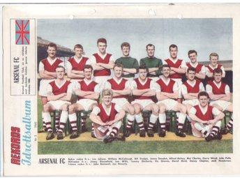 Arsenal FC, 2 lag från Rekord-Magasinet, 1957 o 1960