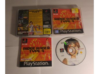 Ridge Racer Type 4 till Playstation 1! Komplett! 1kr