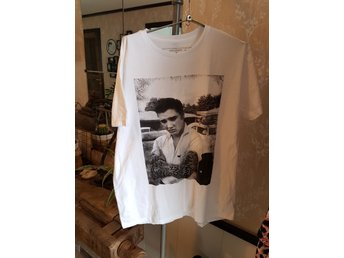 Ny oanvänd t-shirt Elvis Presley rock n roll tattoos