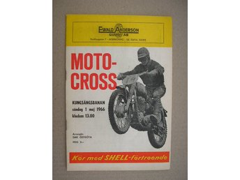 Program Motocross Kungsängsbanan Norrköping 1 maj 1966