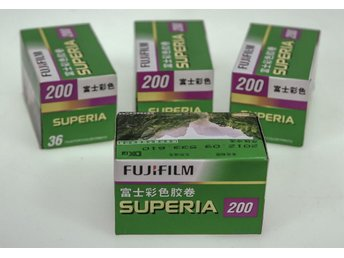 4x Rolls of Fujifilm135-36 200 Colour Negative Film, out of date 2012 kept cool