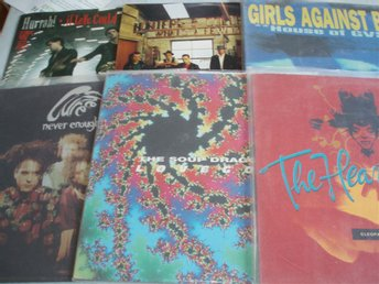 6 st (Girls againts boys, soup dragons, hurrah, Cure, Hunters & Collectors,m fl)